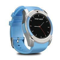 Wholesale grass box resale online - 2018 V8 Smartwatch Bluetooth Smart Watch With M Camera SIM And TF Card Watch For Android System S8 IOS Iphone Smartphone In Box