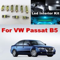 Wholesale Volkswagen Passat Mirror - WLJH 13x White Ice Blue Canbus LED Dome Mirror Puddle Lamp Light Car Interior Lighting For VW Volkswagen Passat B5 1998-2005