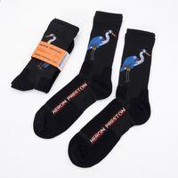 Wholesale hot cranes - 3pair lot Men Women Socks Colors Black Whirte Crane Letter Ctnnb Long Socks Hip Hop Streetwear Kanye West Socks 2018 Hot Selling