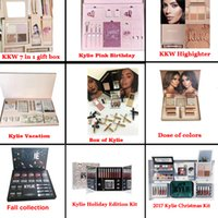 Wholesale Peacock Christmas - Kylie Fall Bundle Peacock The box by Kylie  Kylie Vacation  I WANT IT ALL Birthday KKW 7 in 1 kit  Christmas Collection Set Kylie Bundle
