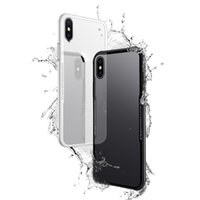 Wholesale Clear Plastic Casing - New HD Transparent 9H 3D Tempered Glass Back Cover Case Flexibility Soft TPU Shock Absorption Bumper Aseismic Airbag for iPhone X Goophone X