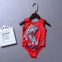 ingrosso vestito di bagno di colore rosso-Costumi da bagno per bambini Costumi da bagno per bambini Costumi da bagno per bambini Costumi da bagno per bambini