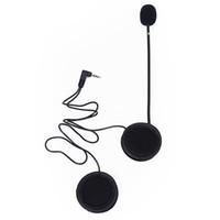 interphone zubehör großhandel-V6 Mikrofon Lautsprecher Soft Kabel Headset Zubehör für Motorrad Helm Bluetooth Interphone Intercom Funktioniert mit 3,5 mm-Stecker