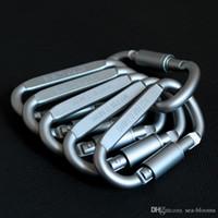 karabiner zum verkauf großhandel-Heißer Verkauf Outdoor Sicherheit Schnalle Aluminiumlegierung D Form Klettern Taste Karabiner Snap Clip Haken Schlüsselanhänger Camping Karabiner Schlüsselanhänger G854F