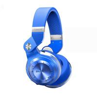 auriculares de turbinas al por mayor-Nuevo Bluedio Headest T2 + Turbine 2 Plus Auriculares Bluetooth plegables Bluetooth 4.1 Auriculares Soporte Tarjeta SD Radio FM para llamadas Música