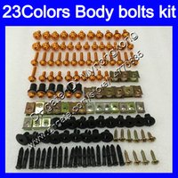 Wholesale Honda Cbr125r Fairings - Fairing bolts full screw kit For HONDA CBR125R 02 03 04 05 06 CBR 125R CBR125 2002 2003 2004 05 2006 Body Nuts screws nut bolt kit 23Colors
