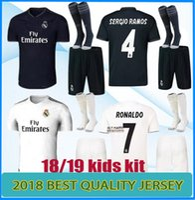 Wholesale boys youth shirts - Real Madrid soccer jerseys kids jersey kits youth boys child 2018 2019 RONALDO ISCO Modric ASENSIO BALE KROOS football shirts set