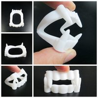 Wholesale fake teeth props for sale - Group buy 2018 New Toy Vampire Fake Teeth For Halloween Party Prop Masquerade Cosplay Makeup Funny Dentures