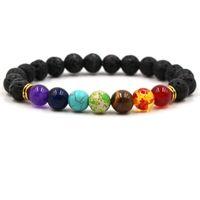 Wholesale beaded jewelry prices - 7 Chakra Bracelet Men Black Lava Healing Balance Beads Reiki Chakra Buddha Prayer Natural Stone Yoga Bracelet Women Jewelry Wholesale Price