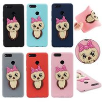 Wholesale Owl Phone Covers - 2018 New Owl TPU Phone Case for iPhoneX iphone X 8plus cover for Samsung Galaxy J2 Pro 2018 S9 Huawei Honor 7X 6A