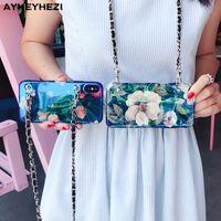 iphone kolye çantası toptan satış-10 adet güzel Instamood telefon kılıfı kapak crossbody uzun askılı zincir kolye iphone xr xs max 6 8 artı durumda toptan