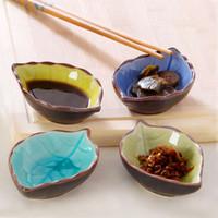 pratos cerâmicos japoneses venda por atacado-Prato de cerâmica pequeno prato de vinagre japonês utensílios de mesa prato de lanche