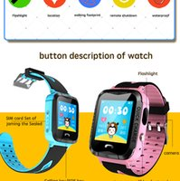 Wholesale baby trackers - IP67 Waterproof V6G Smart Watch GPS Tracker Monitor SOS Call with Camera Lighting Baby Swimming Smartwatch for Kids Child free DHL