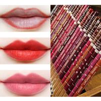 lábio escuro liner venda por atacado-Atacado Lip Liner Café Marrom Preto Rosa Vermelha Lápis de Sobrancelha Delineador Mate Lip Liner Make Up Tools