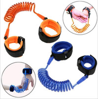 Wholesale 2m baby safety online - 1 M M M Fashion Baby Child Kids anti lost wristband Wrist Link Safety Harness Strap Rope Leash with metal connector Free
