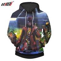 девичья одежда оптовых-Новый пуловер толстовка мужская негабаритных с капюшоном O-образным вырезом Iron Maiden 3d печатных толстовки мужчины уличная одежда Оптовая