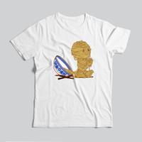 diseño de impresión de la camiseta para hombre al por mayor-Nuevo Diseño Homme verano tee precioso para hombre imprimió la historieta corta T Shirts Impresión creativa tes de las tapas