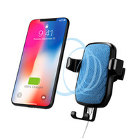 Wholesale car phone holder online - QC Fast Charging QI Car Wireless Charger Gravity Sensor Adjustable Air Vent Phone Holder Mount For iPhone plus X galaxy S8 S8 S9