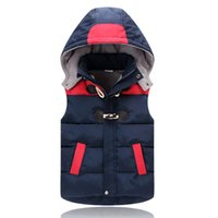 Wholesale Hood Lining - Children Down Cotton vest boy thickening vest 2018 New small child Marcus Camby shoulder Baby Cotton coat