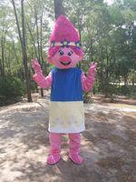 princesa de mascote adulto venda por atacado-Novo Estilo Adulto Bonito Da Marca Dos Desenhos Animados Novos Trolls Princesa Mascot Costume Fancy Dress Venda Quente traje Do Partido Navio Livre