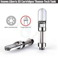 Wholesale x6 pen vaporizer resale online - Authentic Itsuwa Amigo Liberty X6 Vape Cartridges Closed System Thanos Tech Tank Thick Oil O pen BUD Vaporizer Ceramic Coil Wax Atomizer