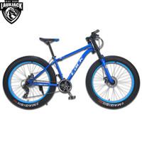 horquilla de disco al por mayor-LACK Mountain Bike FatBike Steel Frame 24 velocidades Shimano Disc Brakes 26