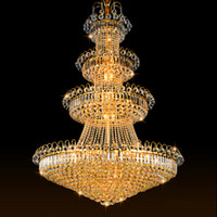 Wholesale Factory Pendant Lights - led crystal chandelier lights noble high end pendant lamp elegant American vintage style hotel project construction light factory price