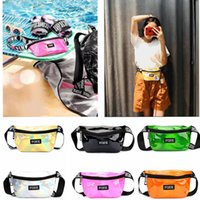 Wholesale diamond pillow - PINK Laser Bum Bag Fanny Pack Money Wallet Rave Festival Waist Pack Outdoor Travel Crossbody Hip Bag Diamond Leather Bags Kids Purse EEA441