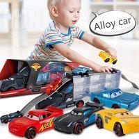 grandes carros de brinquedo venda por atacado-Grande Caminhão Recipiente Portátil Pick Up Truck Crianças Brinquedos Trailer Da Liga Mini Presente Crianças Presentes de Aniversário Caminhão Carros Modelo Brinquedos