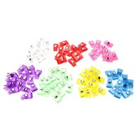 Wholesale garment clips - 50Pcs Garment Clips Plastic Wonder Clips Holder for DIY Patchwork Fabric Quilting Craft Sewing Knitting High Quality 3.5*1.8cm