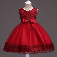 bauchtanz applikationen großhandel-Prinzessin Tanzkleid für Mädchen Bühnenabnutzung Tanzkleider Orientalische Kostüme für Kinder 5 Farben D0071 Sheer Saum Applikationen