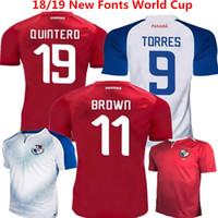 ingrosso uniformi di calcio marrone-Pullover di calcio Panama Home Red Football Shirts Torres 2018 Russia World Cup Uniformi Infermiera Godoy Quintero Ovalle Brown camisetas de futbol