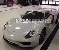 Wholesale Porsche Stickers - Volcanic Grey Gloss Vinyl wrap with Air bubble Free Car Wrap COVERING for BMW & PORSCHE HONDA AUDI car wrapping Size:1.52*20M Roll 5x66ft