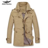 trincheira legal venda por atacado-2017 Nova Chegada Trench Jacket Men Cool Design Outwear Casual Primavera Outono Mens Trench E Casacos Moda Vestuário 85z