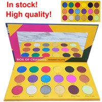 Wholesale bright eyeshadow palettes - In stock ! New makeup BOX OF CRAYONS Shimmer Matte Eyeshadow 18 color bright-colored and beautiful Eyeshadow palette free shipping