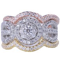 Wholesale bezel set cz engagement rings for sale - New Luxury Sterling silver ring AAA CZ Zirconia Womens crystal Wedding Rings Classic Engagement personal ring Jewelry wholsale
