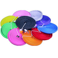 Wholesale flat noodle cable online - Type C Micro Usb Cable m m m Quick charging Braided Fabric Flat noodle Data charger cables for samsung s7 s8 s9 htc android phone
