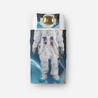 Wholesale brushed cotton bedding set online - 3D Digital Printing Astronaut BRUSHED MICROFIBER Bedding pc Duvet Cover Sets Twin Astronaut