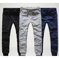 Wholesale unique mens pants - 2017 Mens Joggers Cargo Unique Pocket Men Pants Black lace-up Sweatpants Harem Pants Men Jogging Sport Pants Men Pantalones Hombre M-2XL