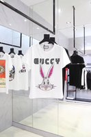 Wholesale rabbit s - 2018 Spring Summer New Luxury Europe Italy Tee Cotton Short Sleeve Breathable Men Women fashion Rabbit Head Outdoor Streetwear T-shirts