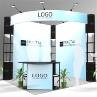Wholesale Standard ft ft New Open Surrounding Style Exhibition Booth Company Trade Show Portable Booth with Wheeled Wood Case E01B8