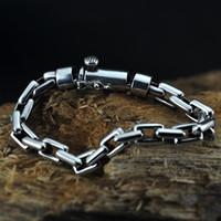 thai fabrik großhandel-Fabrik Großhandel 925 Silber Armband Männlichen Paar Persönlichkeit Trend Thai Silber Mode Retro Weibliche