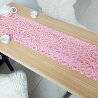 Wholesale Felt Placemats - Hollow Felt Tablecloth Runner Placemats Table Mats Household Decorations