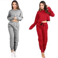 chemises de yoga à manches longues achat en gros de-G9860GY-S Femmes Sport Yoga Crop Top Blouse O-cou À Manches Longues Casual Sportswear Pull T-shirt