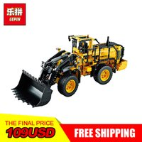 Wholesale wheel blocks - NEW LEPIN 20006 Technic series 1636pcs Volvo L350F wheel loader Model Building blocks Bricks Compatible 42030 boy gift car Toys