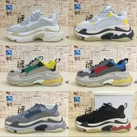 Wholesale Rubber Sole Boots Men - Multi Luxury Triple-S Designer Low New Arrival Sneakers Combination Soles Boots Men Women Running Shoes Top Quality Sports casual Shoes