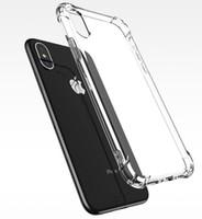 couverture iphone 4s blanc pomme achat en gros de-Étui antichoc et transparent ultra mince pour iPhone X 8 7 6 6S Plus Soft Gel TPU Case