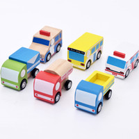 Wholesale children mini train - Gnawing Toys Children High Quality Solid Wood Inertia Boy Mini Toy Car Multiple Options Safety And Environmental Protection 5mz W