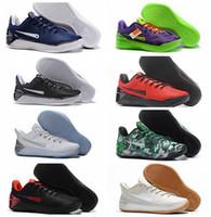 half off 72010 b8b5c 2018 Kobes 12 XII Ad Black Gold Men Basketball Shoes Cheap Purple Red White  Gray Blue Kobe 12s Elite Low Sport Sneakers