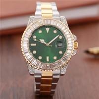 ingrosso orologi quadranti quadranti grandi-2018 Big Diamond Dial Gold Luxury Luxury Brand Quadrante orologio dal designer svizzero orologio ghiacciato Orologi da uomo di lusso Calendario automatico